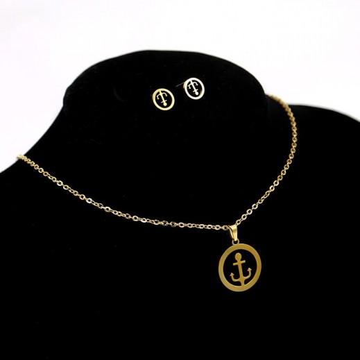 Annaby 14k Gold Plated Jewellery Set GJWST003