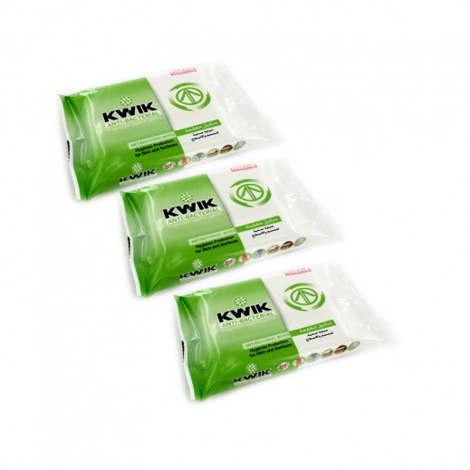 Kwik Antibacterial Wipes (15 wipes X 3 Packets)