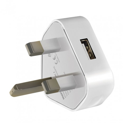 Promate Vim-UK1 1000mAh Premium Home Charger with USB Port White