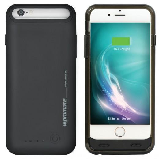 Promate Sleek Li-Polymer Battery Case 2400mAh with Detachable Bumper Black