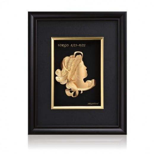 Q Best 24K Gold Foil 3D Virgo Constellation