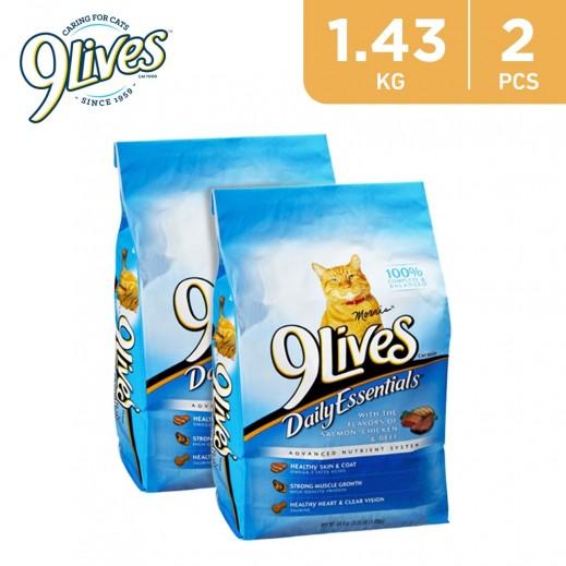 9Lives Daily Essentials Cat Food 2 x 1.43 kg