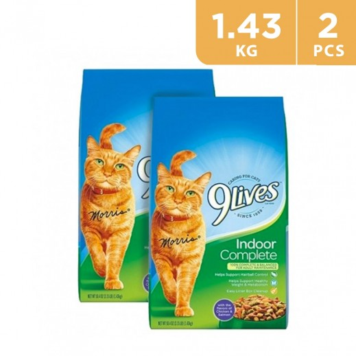9Lives Indoor Cat Food 2 x 1.43 kg