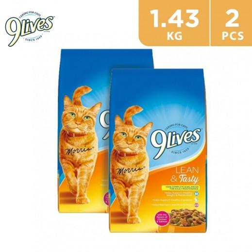 9Lives Lean Tasty Cat Food 2 x 1.43 kg