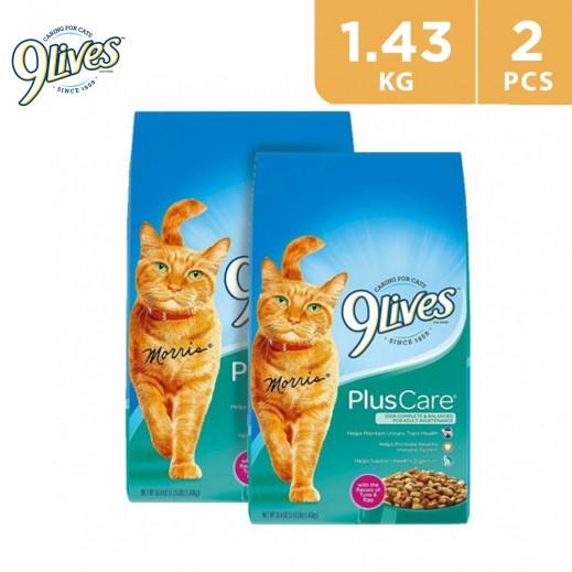 9Lives Plus Care Cat Food 2 x 1.43 kg