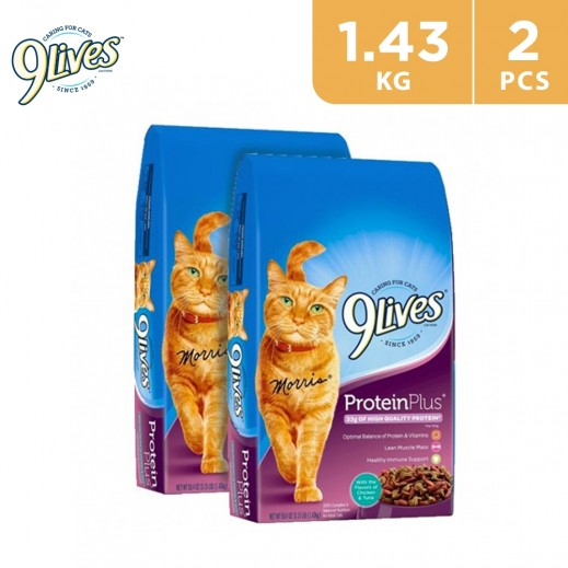 9Lives Protein Plus Cat Food 2 x 1.43 kg