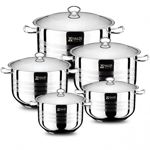 Vivaldi Stainless Steel Cookware Set - 10 Pieces