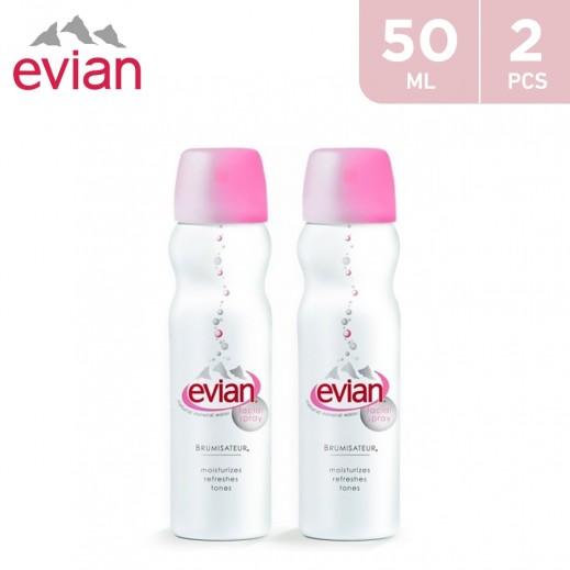 Valuepack - Evian Natural Mineral Water Facial Spray 2 x 50 ml