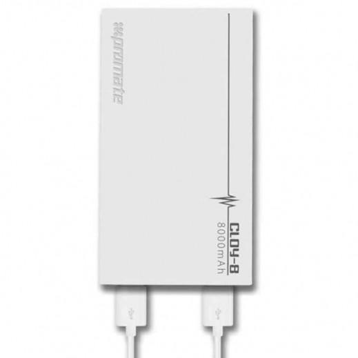 Promate Cloy-8 Premium 8,000mAh Backup Battery White