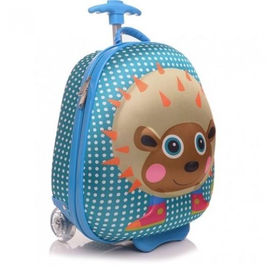 OOPS Happy 3D Trolley Bag Hedgehog