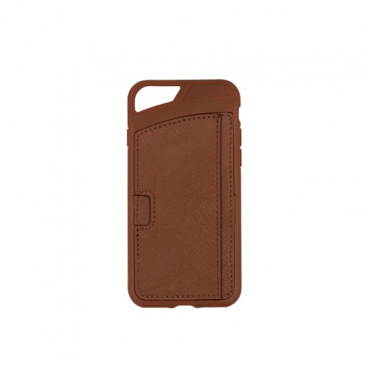 Promate iPhone 7 Leather Wallet Case with Card Storage - Brown