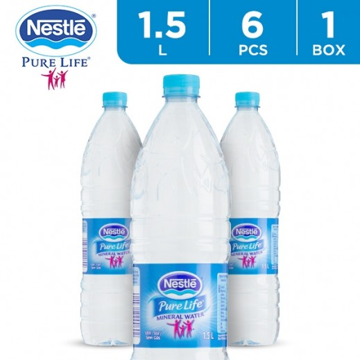 Nestle Pure Life Drinking Water 6 x 1.5 L