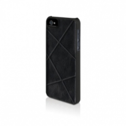 Macally Woven Snap On Case For iPhone 5 - Black
