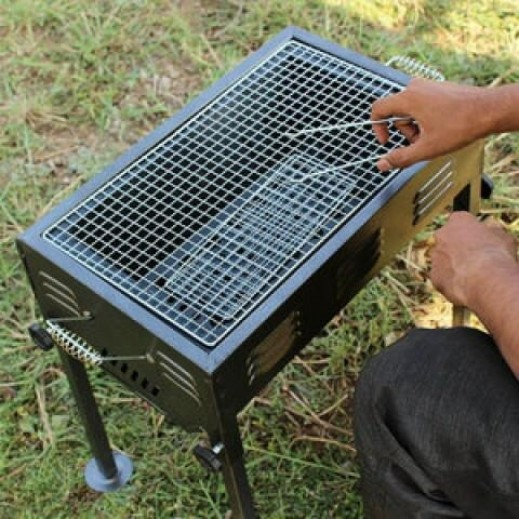 Portable BBQ Charcoal Grill with Handles