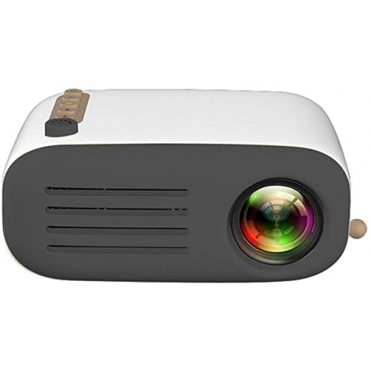 YG200 Portable 1080P HD Mini LED LCD Projector – Black & White