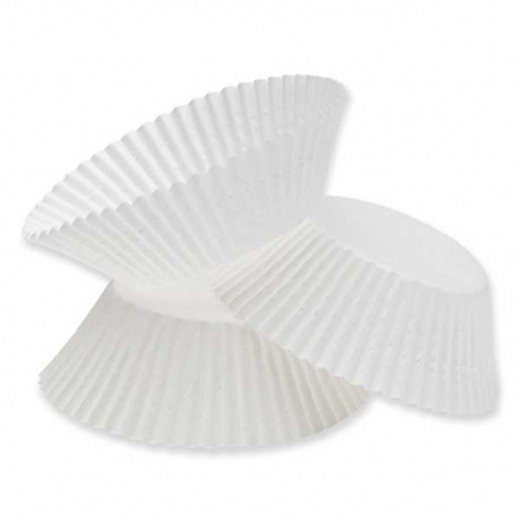 Falcon Crown Cup Cake Paper Cases ( S) -White - (100 pieces)