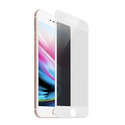 Hoco Anti Spy Privacy 3D Glass iPhone 7 / 8 - White