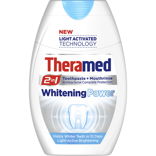 Theramed 2 In 1 Whitening Power Toothpaste + Mouthrinse 75 ml