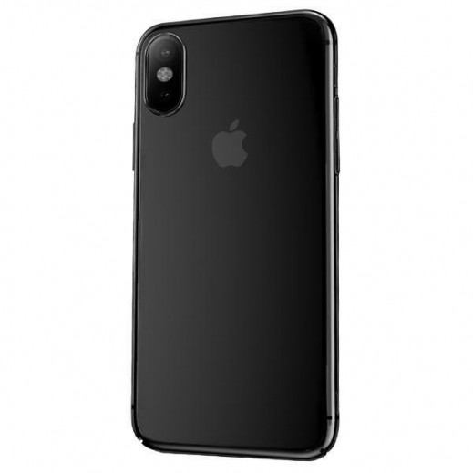 WK Design Linclear Glass Case For iPhone XS / X – Black