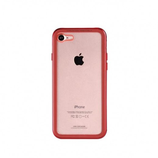 WK Design Tikin Glass Case for iPhone 7/8- Red