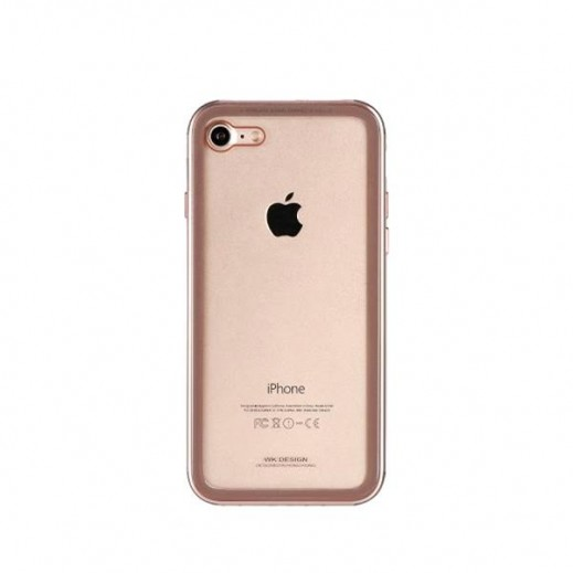 WK Design Tikin Glass Case for iPhone 7/8- Gold