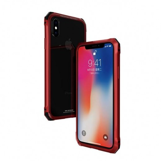 WK Design Tikin Glass Case for iPhone X- Red