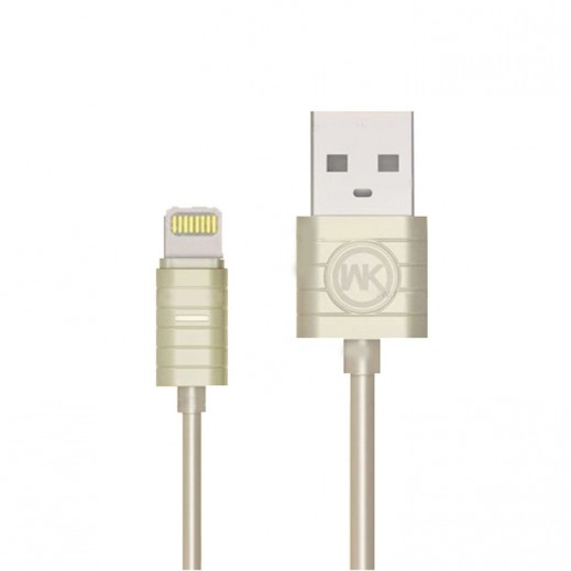 WK Design Lightning Cable for Apple 1 M – Gold