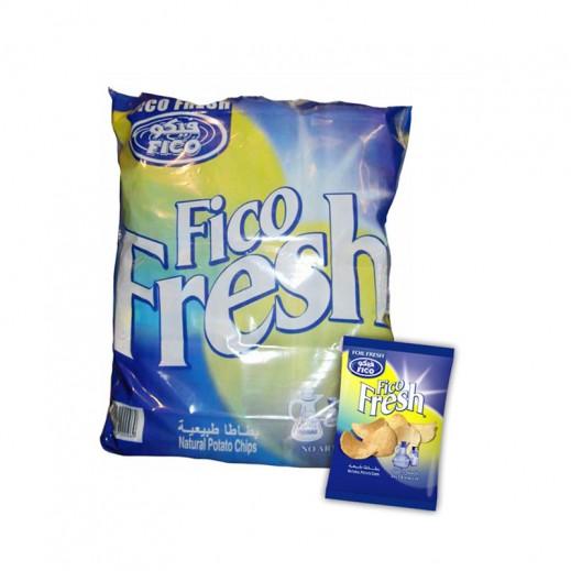 Fico Fresh Salt & Vinegar Chips 20 pieces X 16 g (5 Packs)