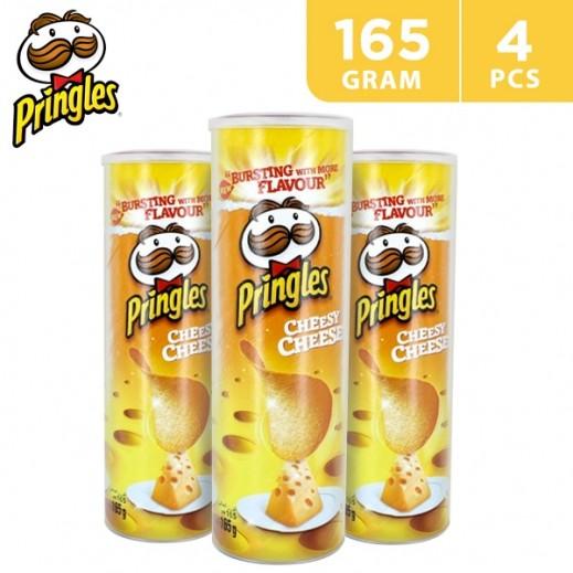 Pringles Nacho Cheese Potato Chips 4 x 165 g