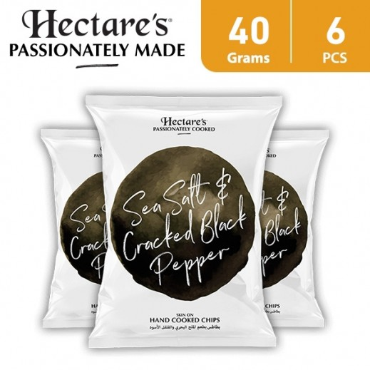 Hectare's Potato Chips Sea Salt & Cracked Black Pepper 6 x 40 g