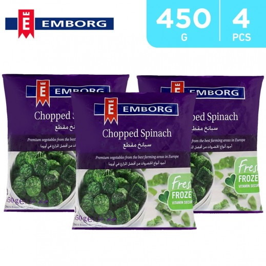 Emborg Frozen Spinach Chopped 450 g (4 Pieces)