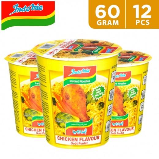 Wholesale - Indomie Instant Noodles Chicken Cup 60 g (12 pieces)