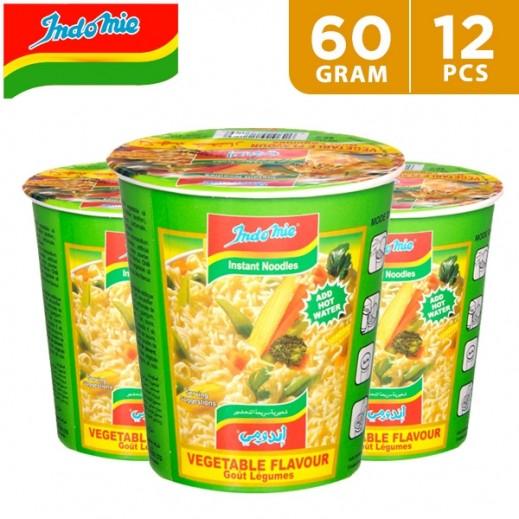 Wholesale - Indomie Instant Noodles Vegetable Flavour Cup 60 g (12 pieces)