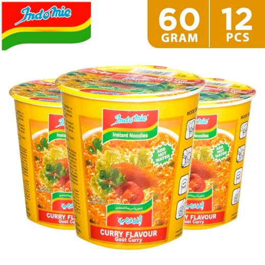 Wholesale - Indomie Instant Noodles Curry Flavour Cup 60 g (12 pieces)