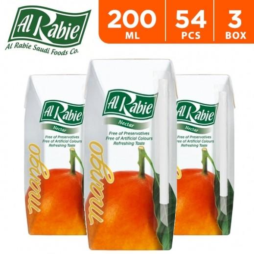 Wholesale - Al Rabie Mango Nectar Juice 200 ml (3 x 18 Pieces)