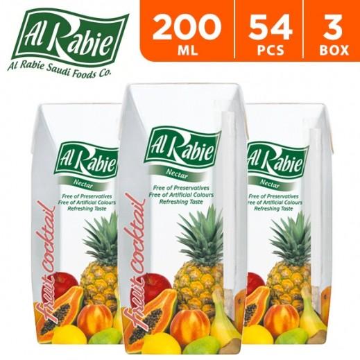 Wholesale - Al Rabie Fruit Cocktail Nectar Juice 200 ml (3 x 18 Pieces)