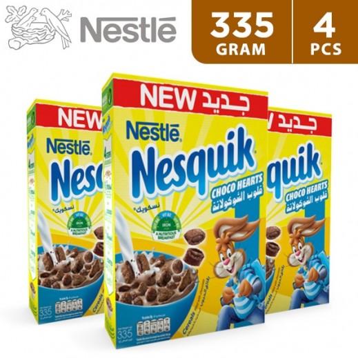 Nestle Nesquik Choco Heart Cereal 4 x 335 g