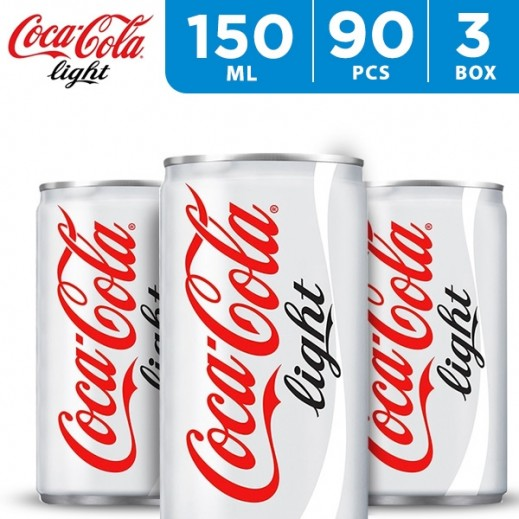 Coca Cola Light Can 150 ml (3 x 30 Pieces)