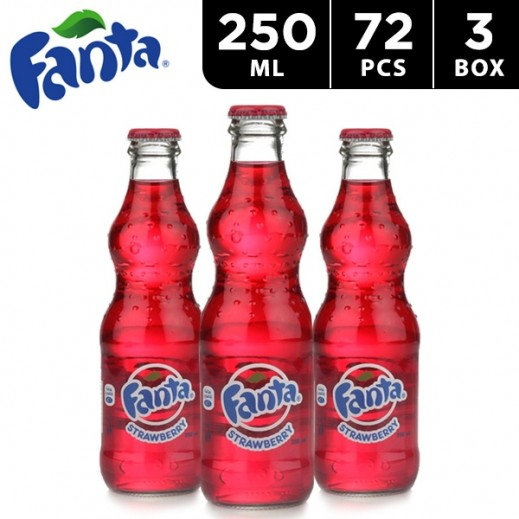 Fanta Strawberry Bottle 250 ml (3 x 24 pieces)