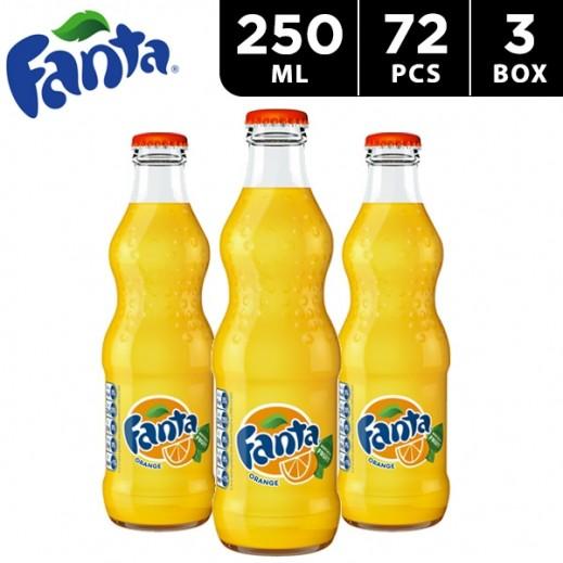 Fanta Orange Bottle 250 ml (3 x 24 pieces)
