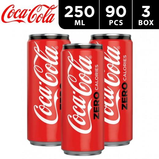Coca Cola Zero Sugar Can Carton 250 ml (3 x 30 Pieces)