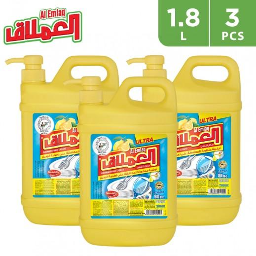 Al-Emlaq Dish Wash Liquid Lemon 1.8 L - 3 Pieces