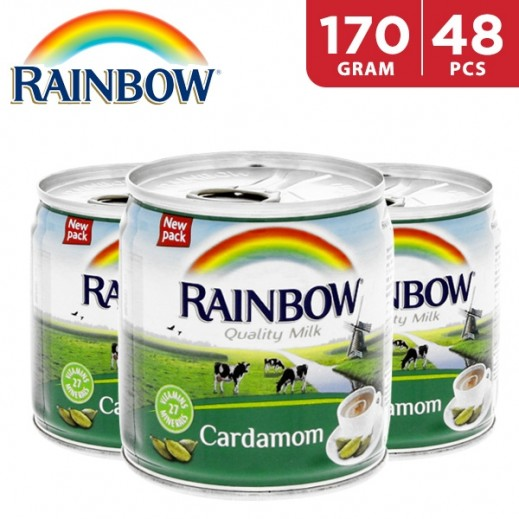 Wholesale - Rainbow Evaporated Cardamom Milk 48 x 170 g