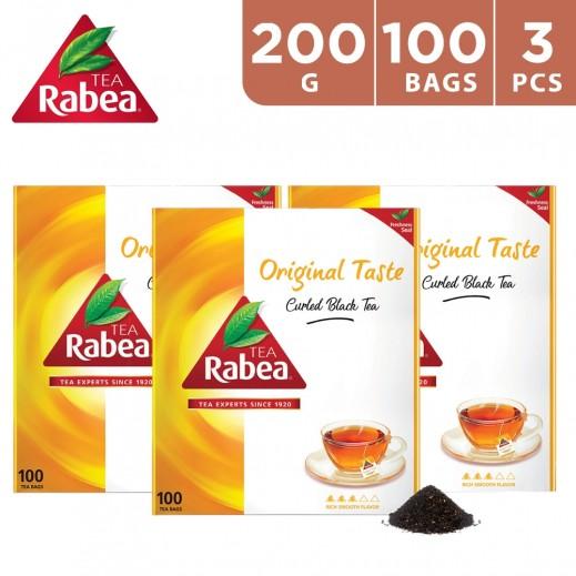 Rabea Original Taste Curled 100 Tea Bags 3 x 200 g