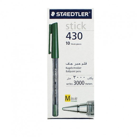 Staedtler Stick 430 Ballpoint Pen 10 pieces - Green