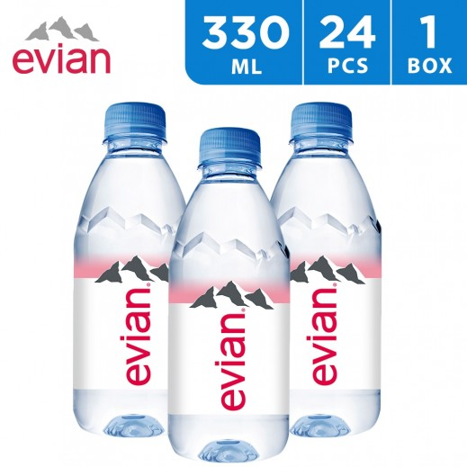 Evian Natural Mineral Water 24 x 330 ml