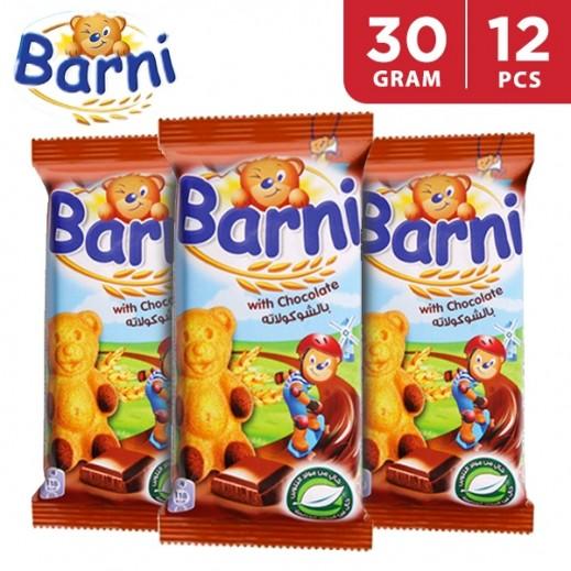Barni Sponge Cake With Chocolate 12 x 30 g