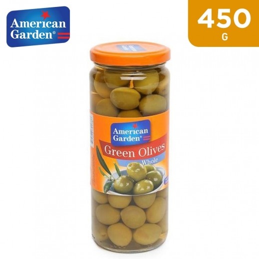 American Garden Whole Green Olives (450 g)