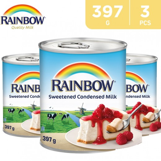 Rainbow Sweetened Condensed Milk 3 x 397 g