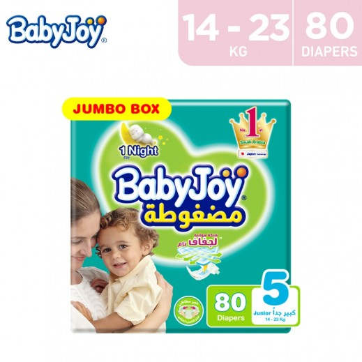 BabyJoy Compressed Diapers Junior XL (80 Diapers)